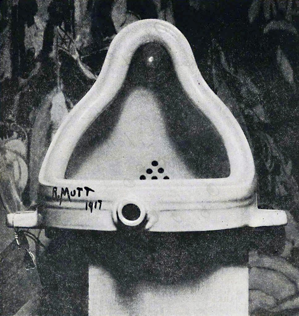 Marcel Duchamp, 'Fountain', 1917. Foto: Alfred Stieglitz.
